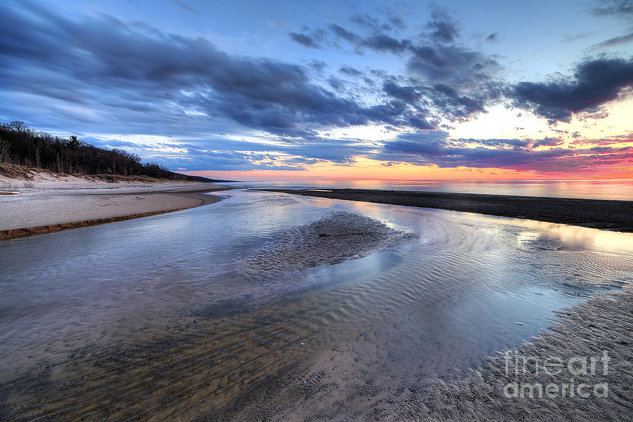 Sunset Photograph - Warren Dunes State Park by Twenty Two North Photography