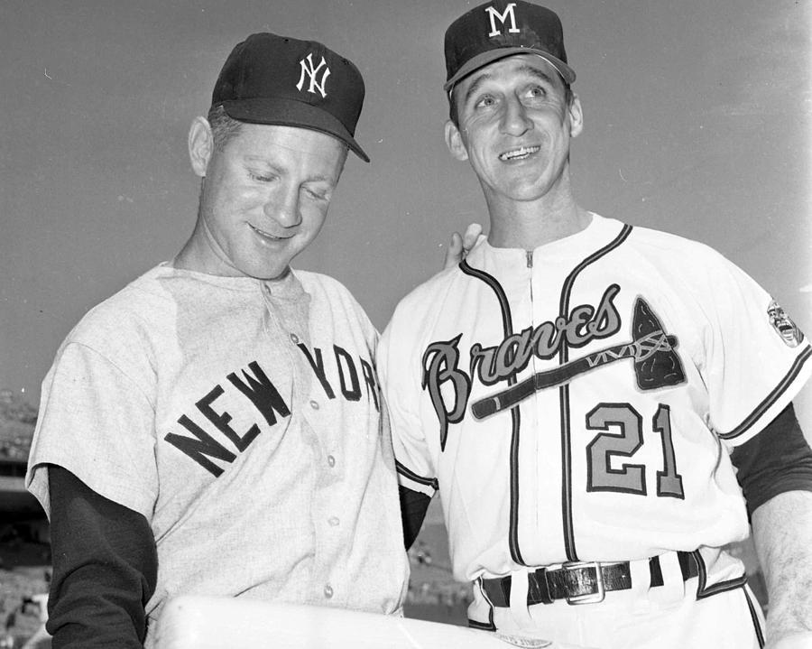 Classic Photograph - Warren Spahn With Whitey Ford by Retro Images Archive