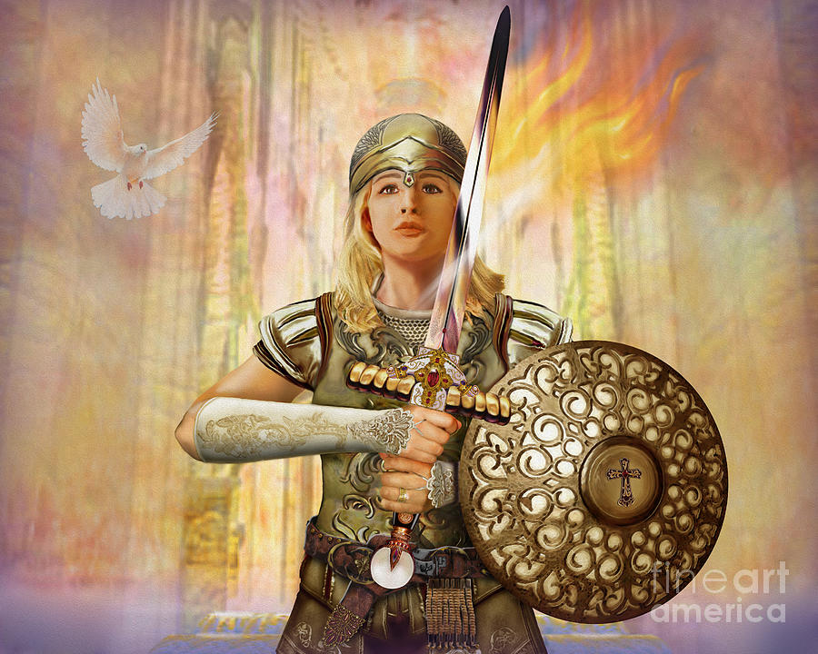 Bride Of Christ Painting - Warrior Bride - The Anointed by Todd L Thomas