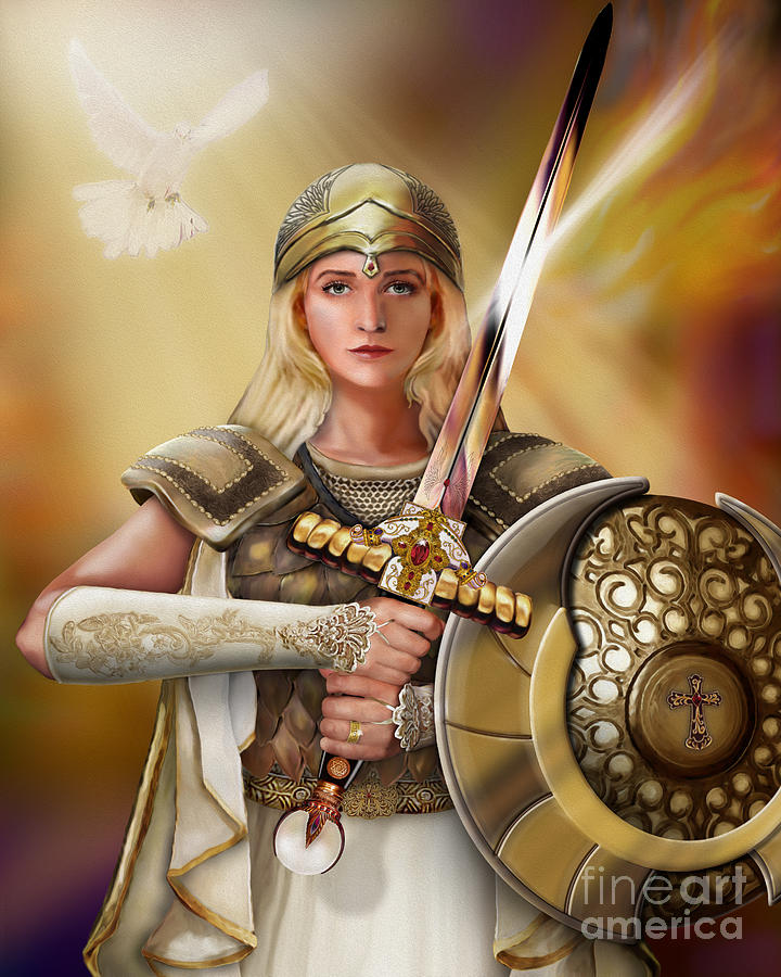 Bride Of Christ Painting - Warrior Bride by Todd L Thomas