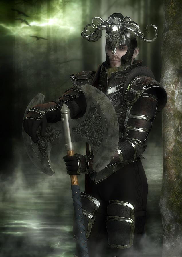 Warrior Digital Art - Warrior Of The Woods by Rachel Dudley