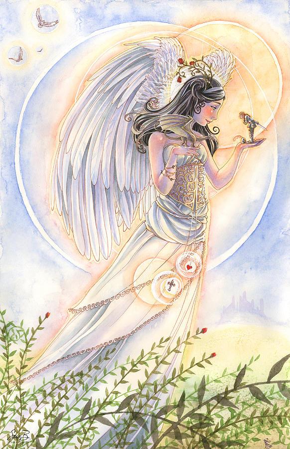 Angel Painting - Warriors Angel by Sara Burrier
