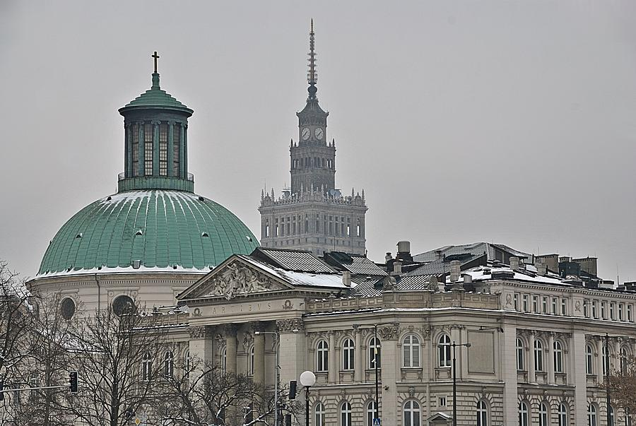 Warsaw Photograph - Warsaw Study In Architecture by Steven Richman