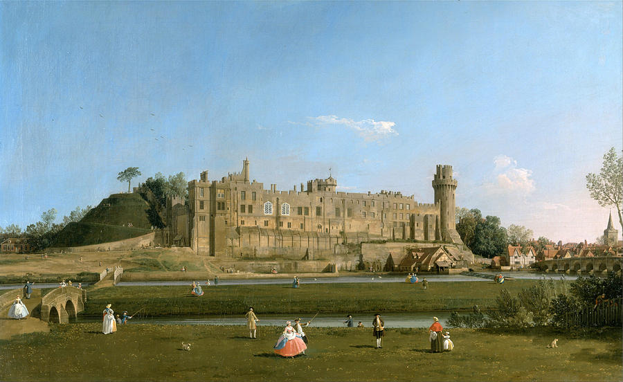Warwick Castle Painting By Canaletto