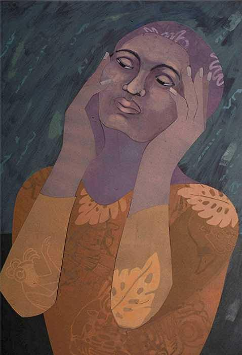 African American Artist Painting - Was It Regret by Robin Holder
