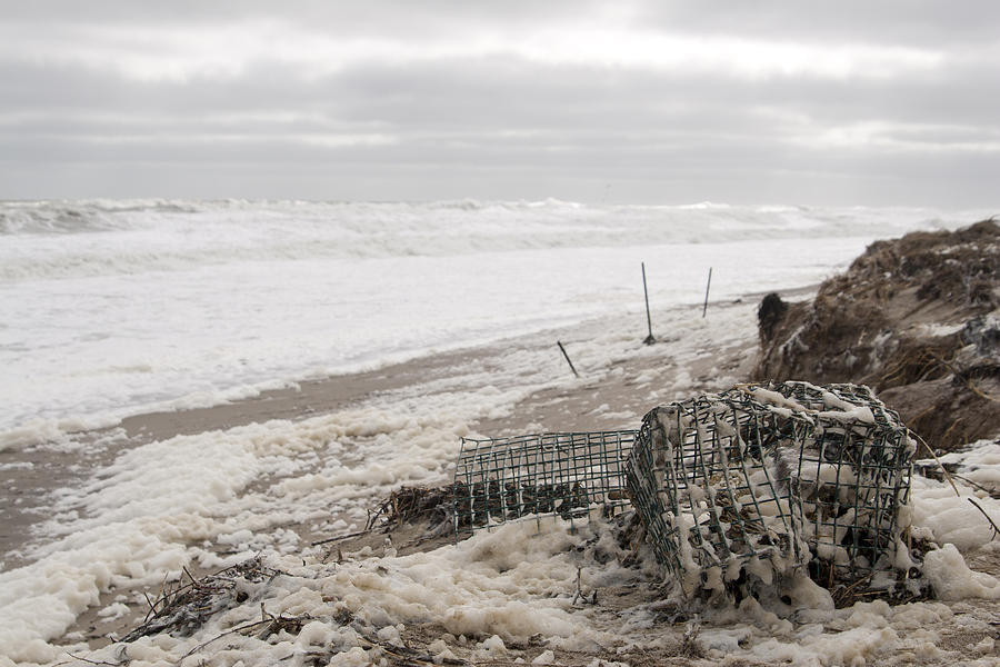 Beach Photograph - Wash A Shore From Storm Saturn  by Eugene Bergeron