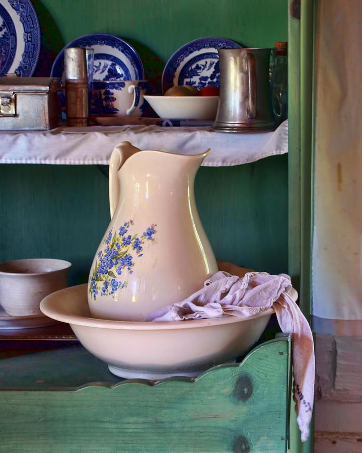 Vintage Photograph - Wash Basin Still Life by Nikolyn McDonald