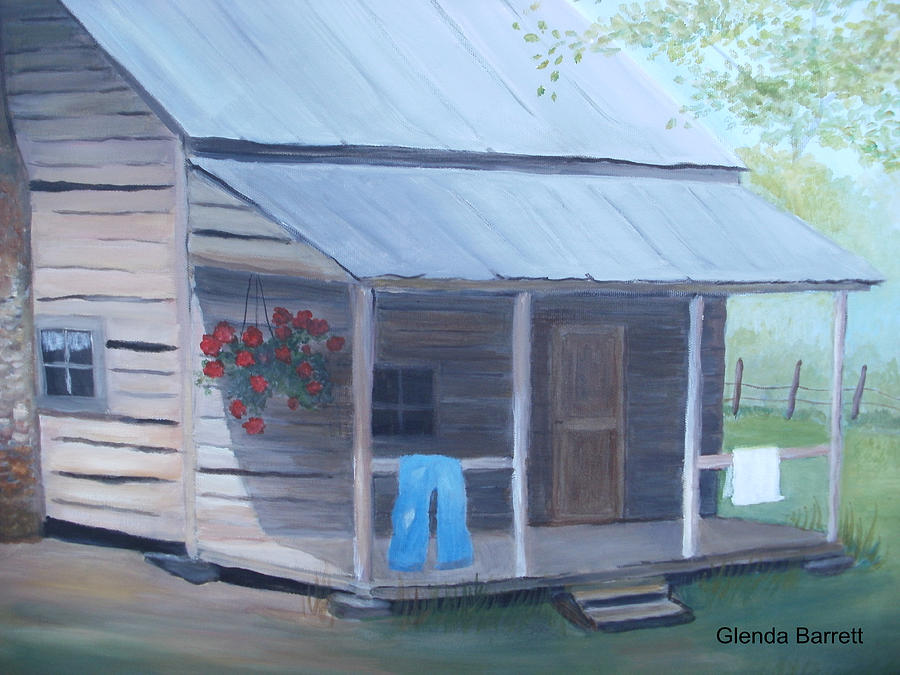 Original Painting - Wash Day by Glenda Barrett