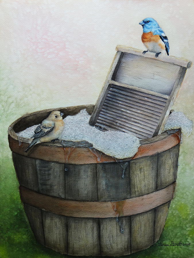 Wash Painting - Wash Day by Theresa Stinnett