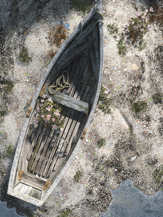 Boat Digital Art - Washed Ashore by Cynthia Decker
