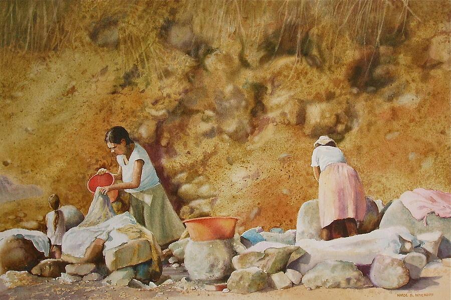 Women Painting - Washerwomen by Karol Wyckoff