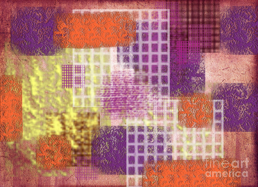 Abstract Digital Art - Washi Papers 1 by Delphimages Photo Creations