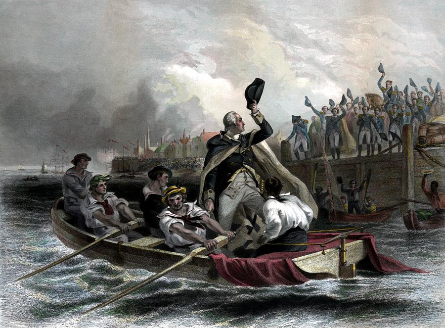 President Washington Painting - Washington Bids Adieu To His Generals  by War Is Hell Store