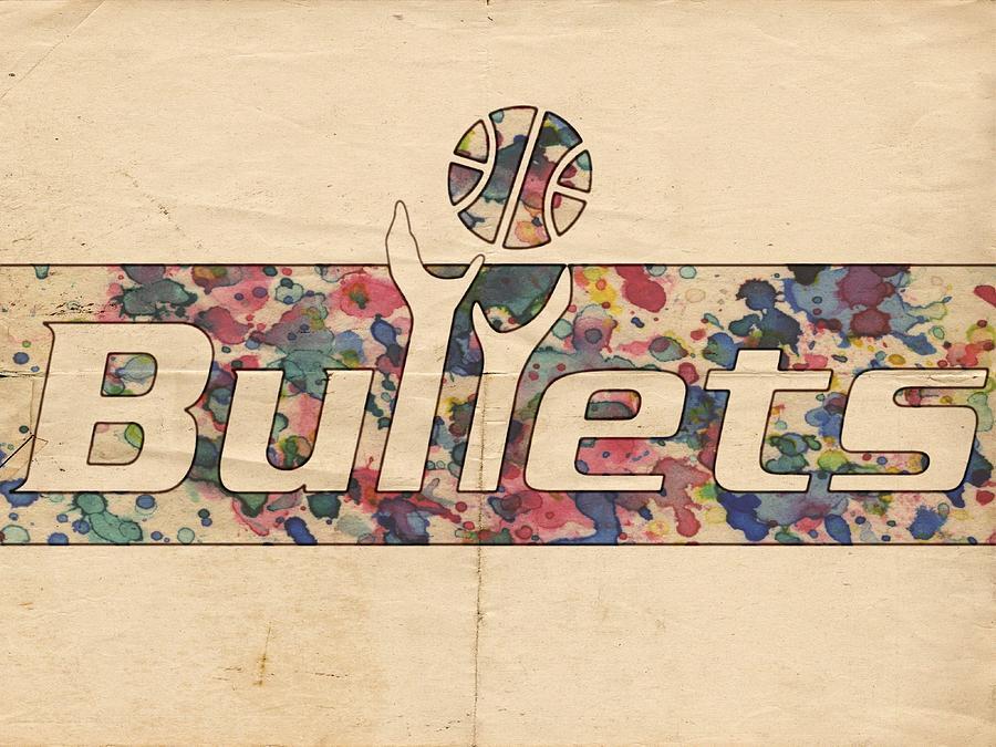 Washington Bullets Painting - Washington Bullets Retro Poster by Florian Rodarte
