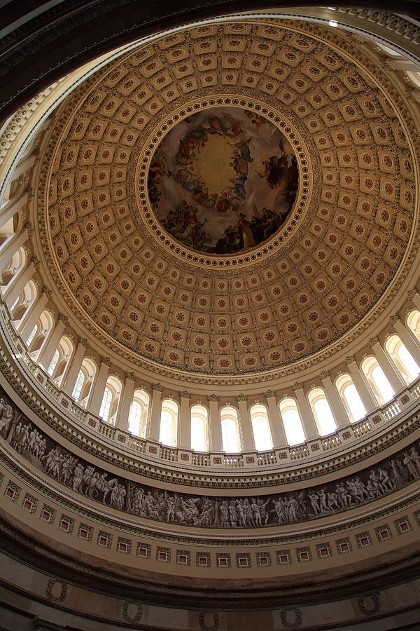 America Photograph - Washington Dc - Us Capitol - 011314 by DC Photographer