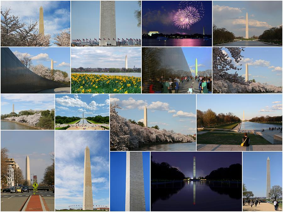 4 Photograph - Washington Monument Collage 2 by Allen Beatty