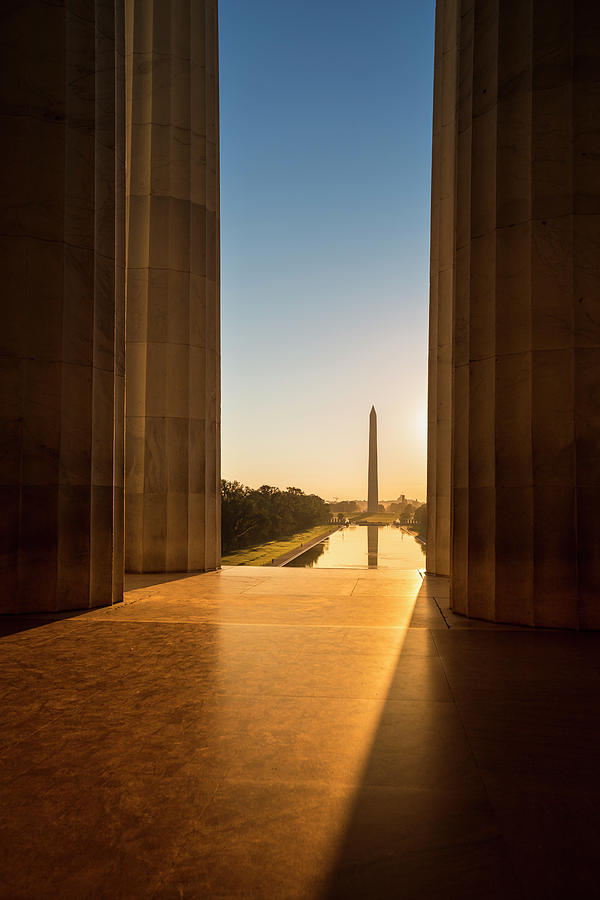 Washington Monument From The Lincoln Photograph by Pgiam