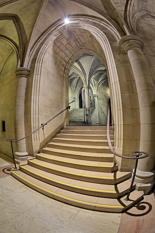 Washington National Cathedral Crypt Level Stairs