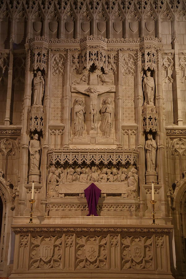 Alter Photograph - Washington National Cathedral - Washington Dc - 011324 by DC Photographer