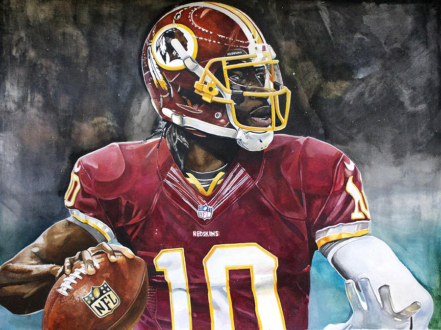 Rg3 Painting - Washington Redskins Robert Griffin IIi by Michael  Pattison
