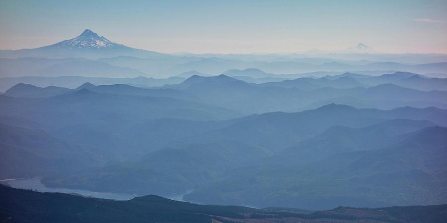 Blue Photograph - Washington View From Mount Saint Helens by Matt Freedman