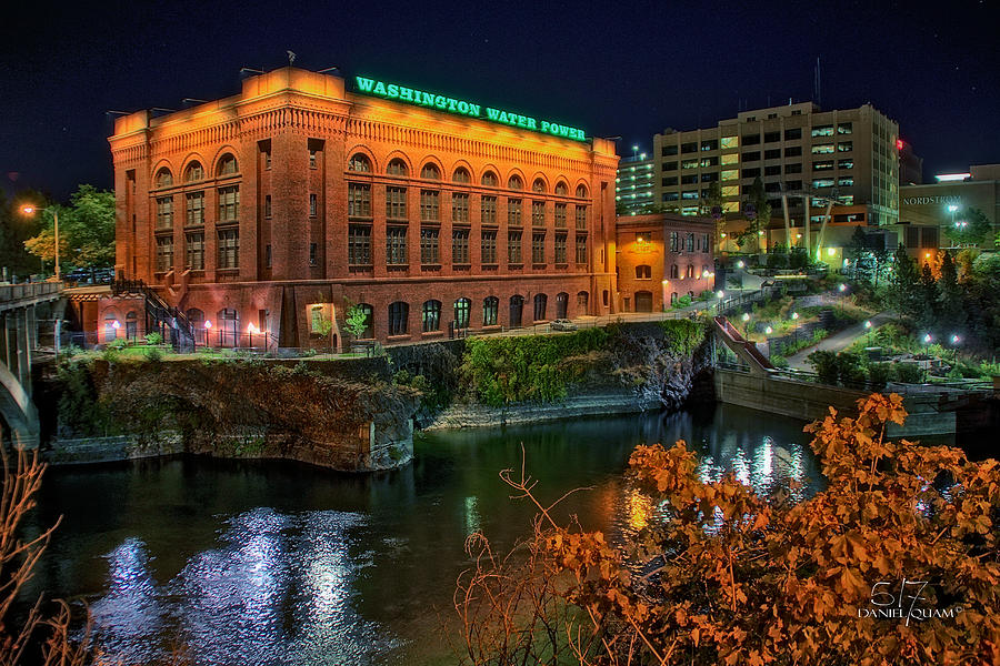 Spokane Wa Photograph - Washington Water Power On The Falls by Dan Quam
