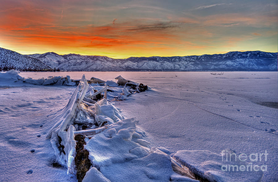 Ice Photograph - Washoe Ice by Dianne Phelps