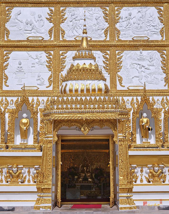 Scenic Photograph - Wat Nong Bua Door Of Main Stupa Dthu448 by Gerry Gantt