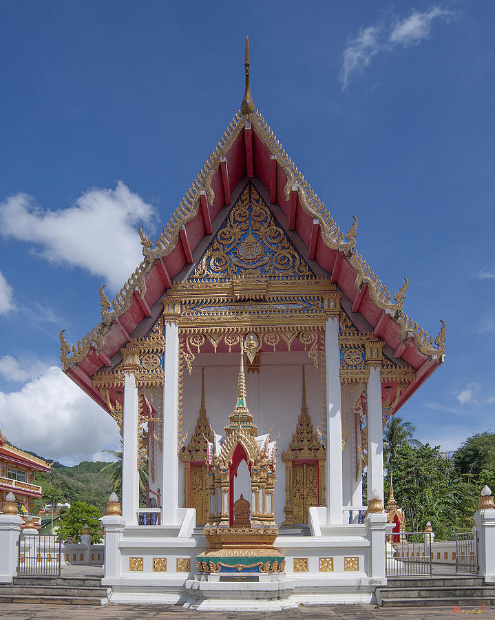 Scenic Photograph - Wat Suwan Khiri Khet Ubosot Dthp269 by Gerry Gantt