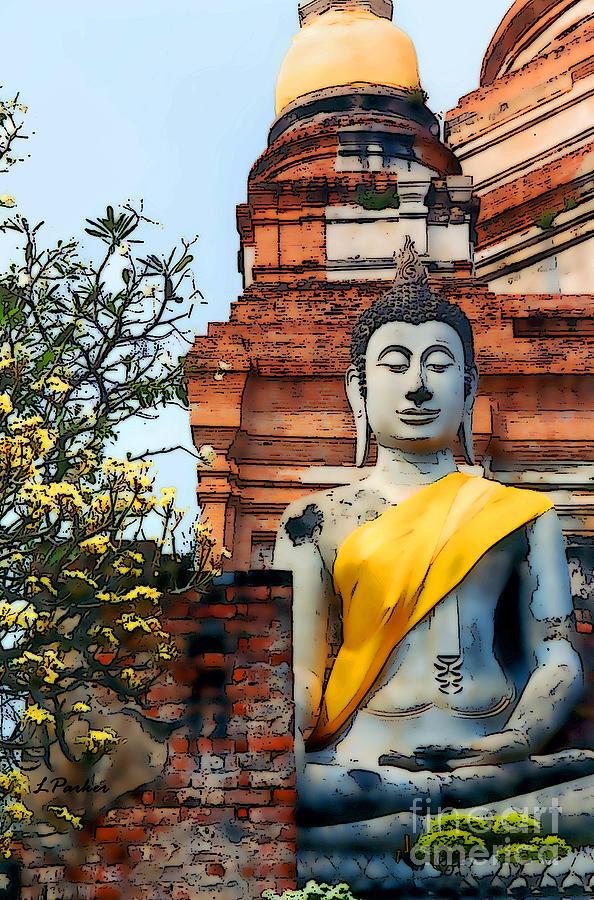 Ayutthaya Photograph - Wat Yai Chai Mongkon by Linda  Parker