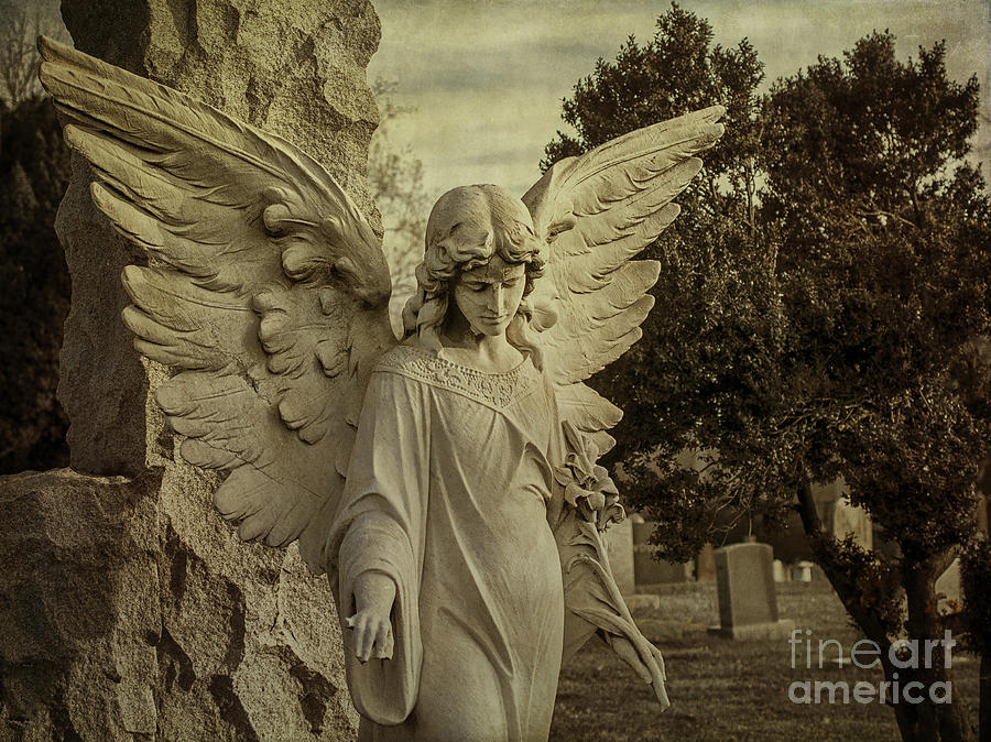 Angel Photograph - Watch Over Me by Terry Rowe