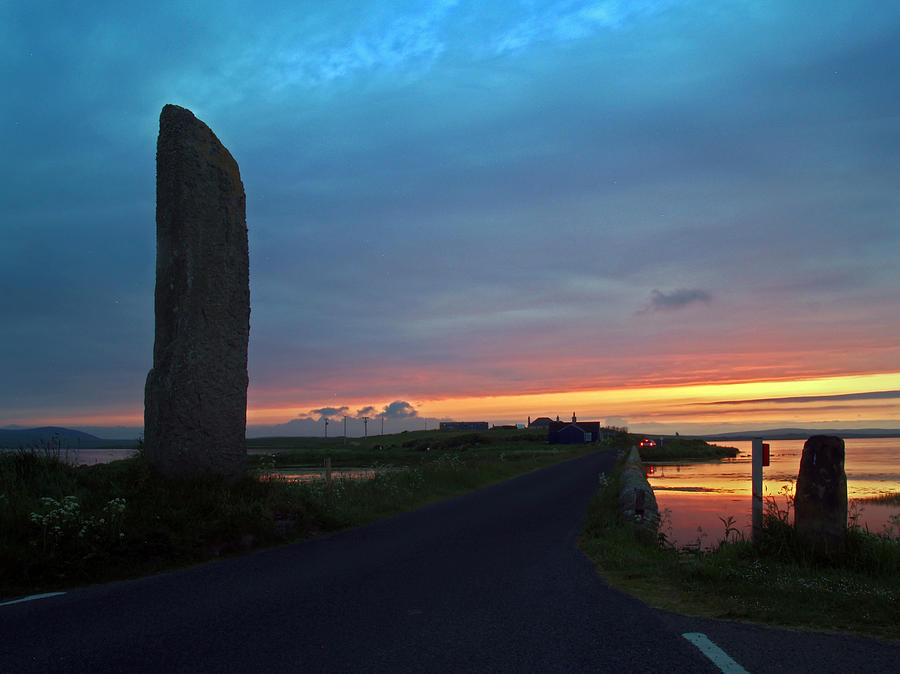 Sunset Photograph - Watch Stone Sunset by Steve Watson