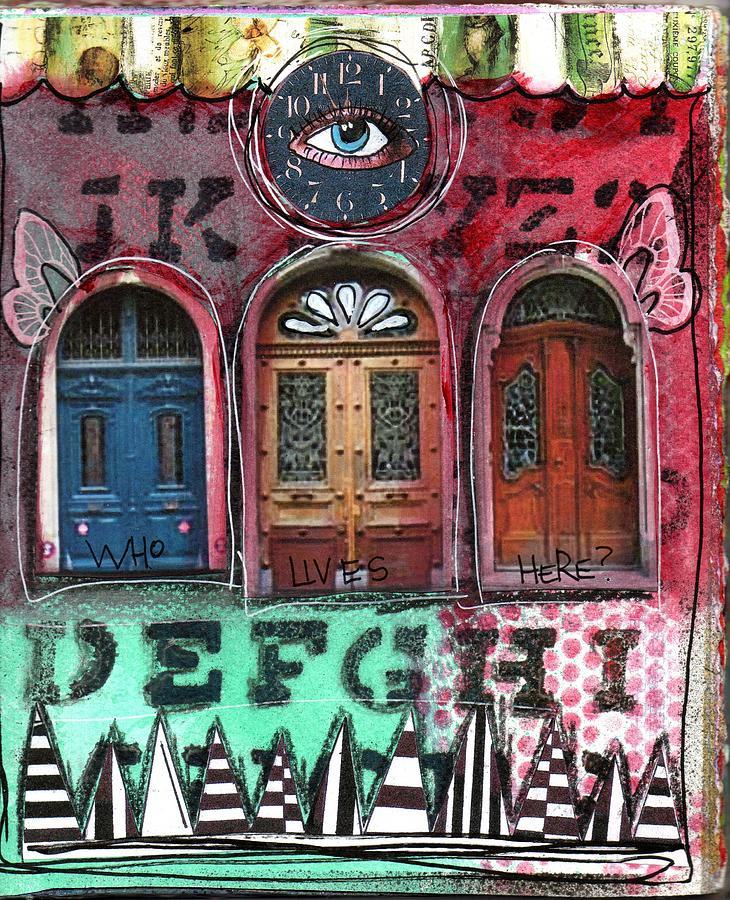 Doors Mixed Media - Watching Doors by Carrie Todd