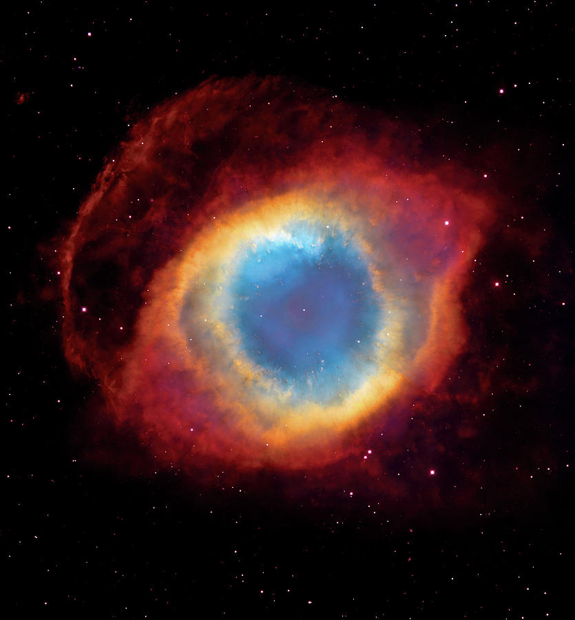 Universe Photograph - Watching - Helix Nebula by Jennifer Rondinelli Reilly - Fine Art Photography