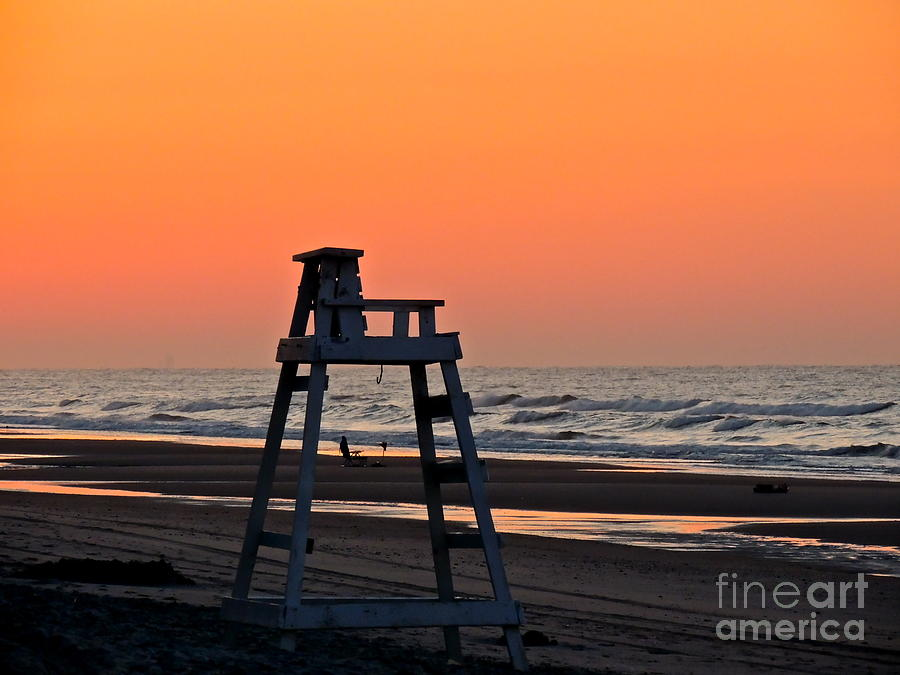 Lifeguard Chair Photograph - Watching Over You by Eve Spring