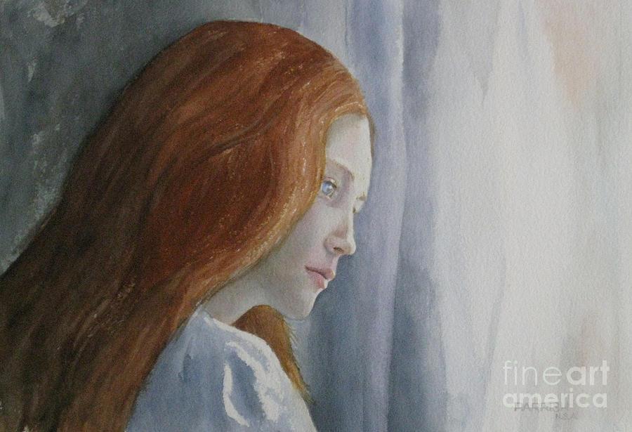 Portrait Painting - Watching by Parrish Hirasaki