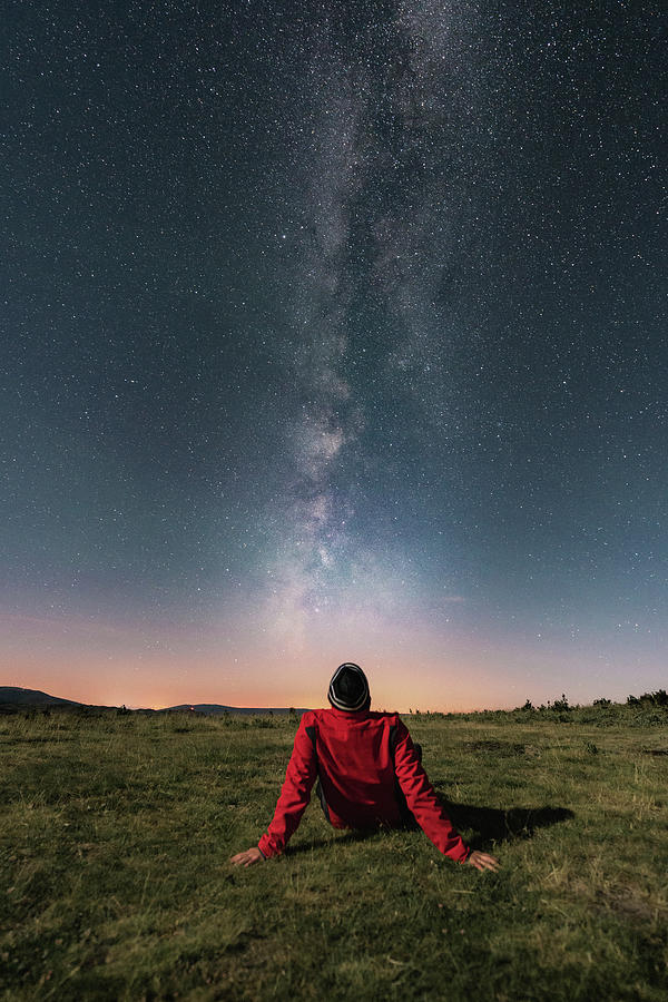 Watching The Milky Way Photograph by Carlos Fernandez