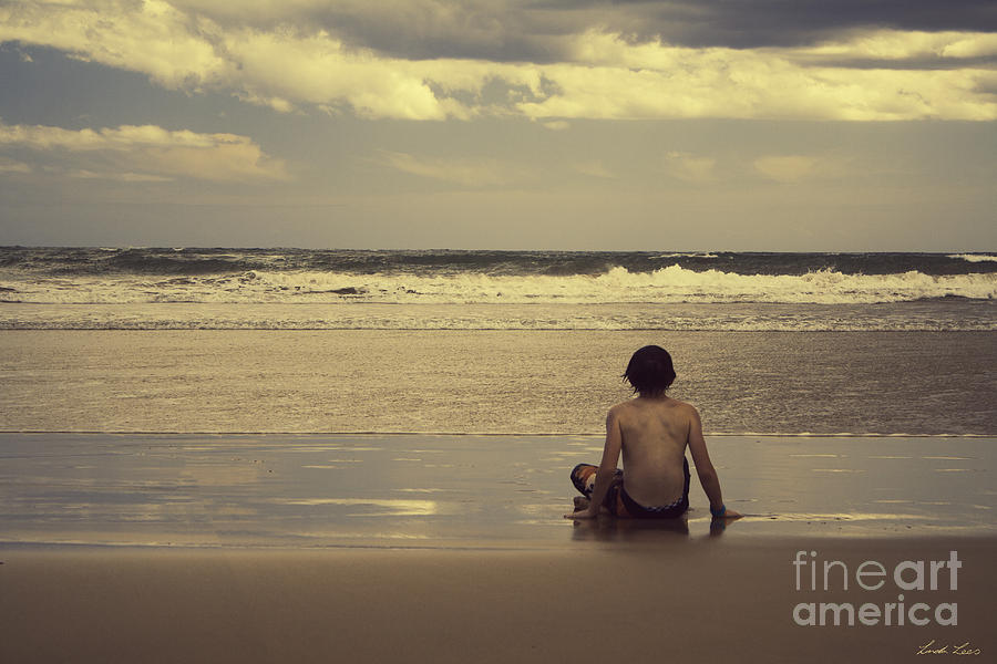 Surf Photograph - Watching The Waves by Linda Lees