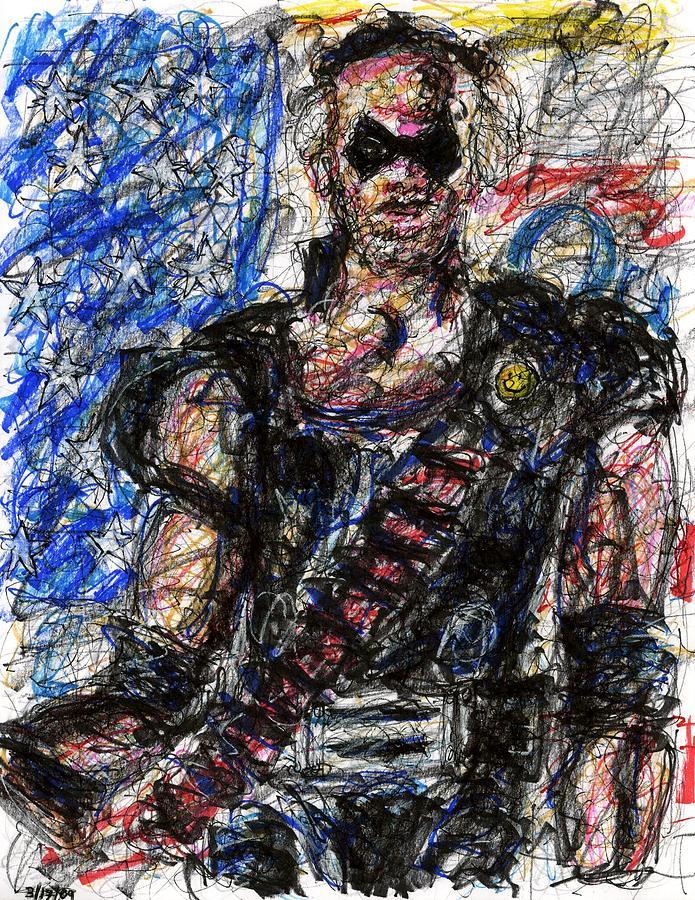 Watchmen Drawing - Watchmen - The Comedian by Rachel Scott
