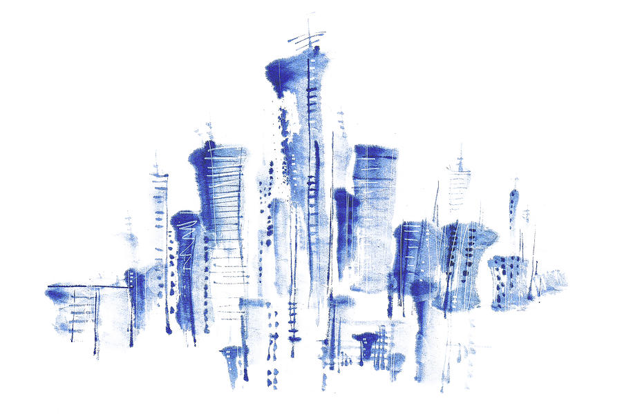 Water-and-ink Cityscape Digital Art by Bji/blue Jean Images