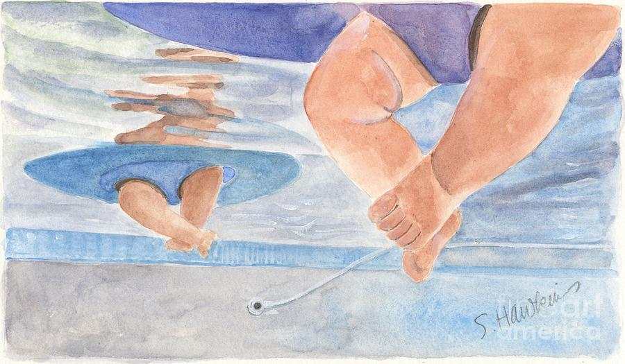 Chubby Baby Painting - Water Babies by Sheryl Heatherly Hawkins