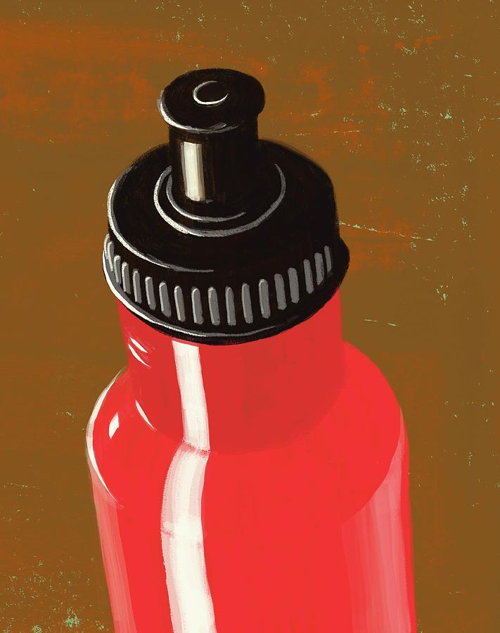 Water Bottle Illustration Digital Art by Don Bishop
