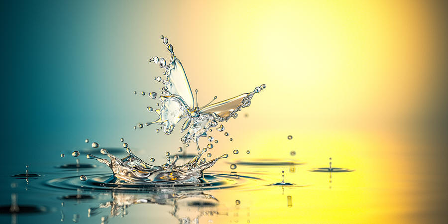 Water Butterfly. The birth of the life Photograph by BlackJack3D