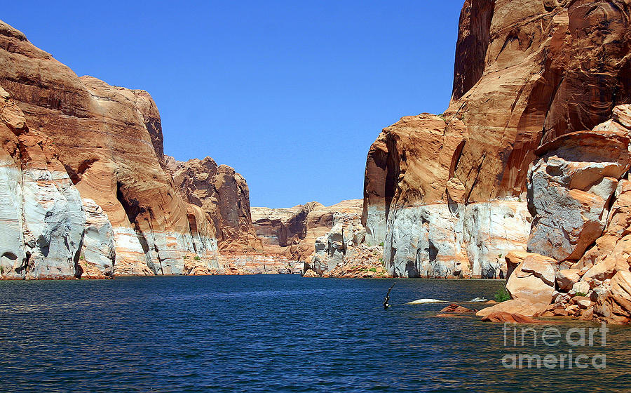 Scenic Photograph - Water Canyons by Bob Hislop