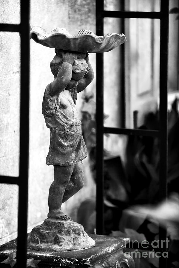 Water Carrier In The Garden Photograph - Water Carrier In The Garden by John Rizzuto