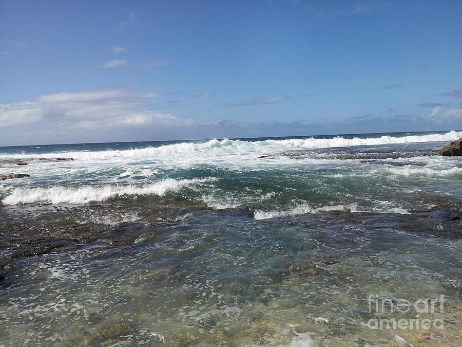 Ocean Waves Photograph - Water by Chandelle Hazen
