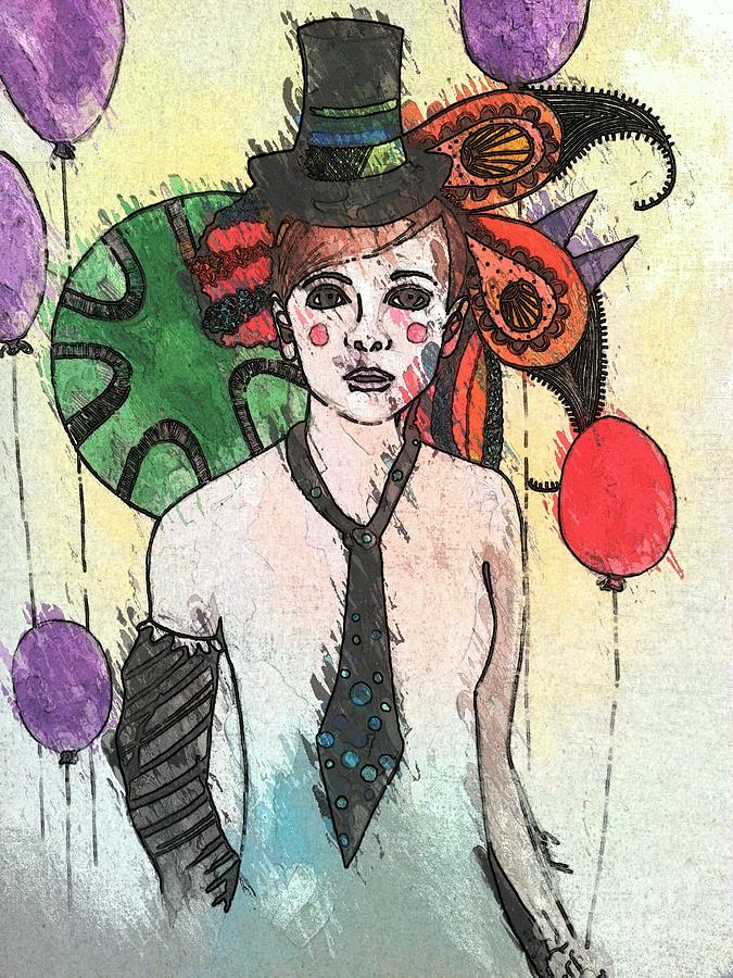 Clown Painting - Water Clown by Amy Sorrell