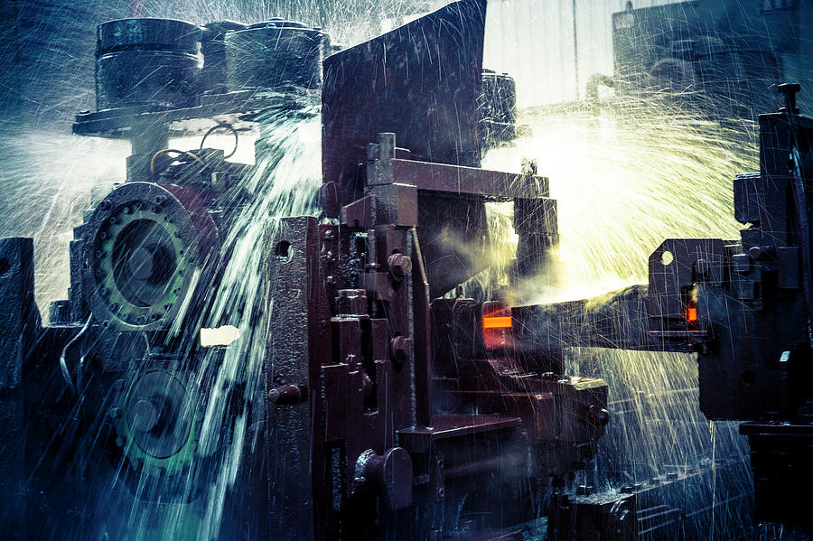 Water Cooling Of Roling Mill Line Photograph by Chinaface