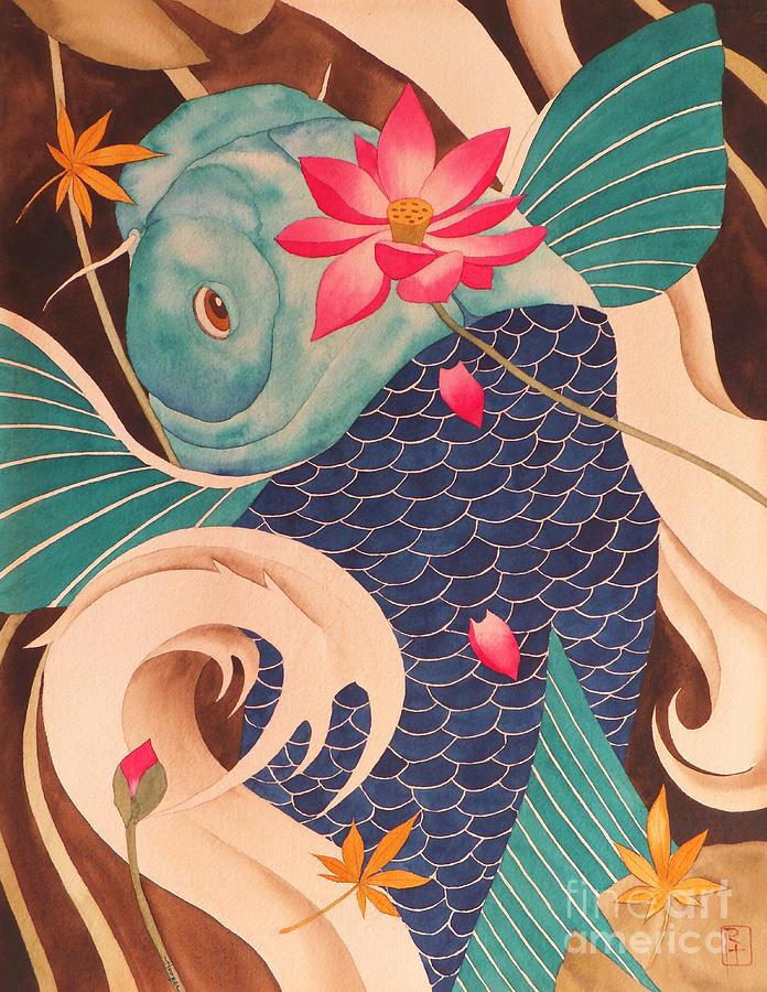 Watercolor Painting - Water Dragon by Robert Hooper