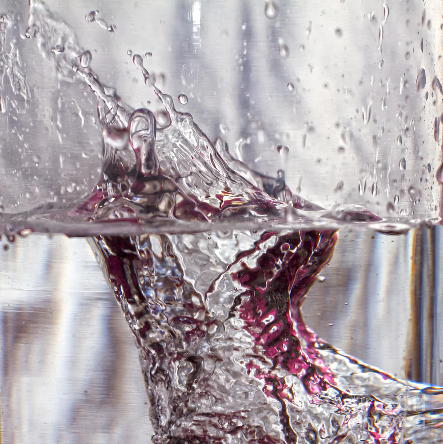 Abstract Photograph - Water Drops Abstract  by Stelios Kleanthous